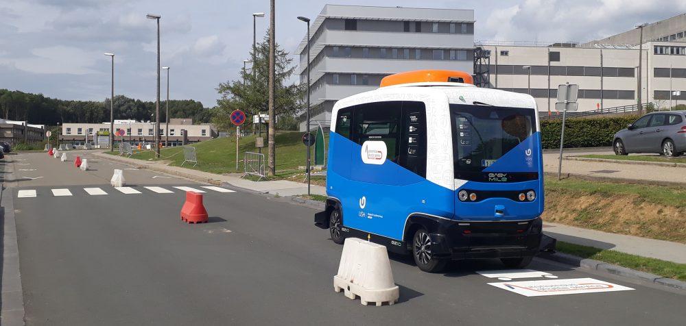 Autonomous Shuttle Service for the Brussels Health Campus